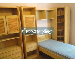 Σετ δωματίου από 2 βιβλιοθήκες με ενδιάμεση ραφιέρα, κρεββάτι με στρώμα, γραφείο, γωνιακή βιβλιοθήκη