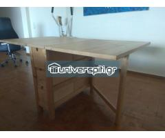 Πτυσσόμενο τραπέζι τραπεζαρίας-βεράντας καλής ποιότητας