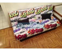 Φοιτητικός καναπές-Κρεβάτι-Μπαούλο