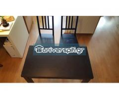 Τραπεζαρία επεκτεινόμενη (50x90cm -> 90x90cm) και 2 καρέκλες