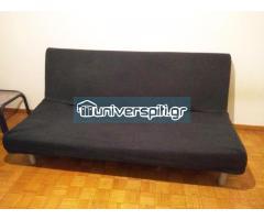 Καναπές-κρεβάτι με στρώμα και κάλυμμα