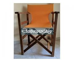Τραπέζι βεράντας και καρέκλες σκηνοθέτη