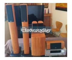Πανέμορφο Δρύϊνο Home Theater Tannoy (5.1) HTS 200 + Yamaha Ενισχυτής RX-V 361